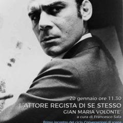 """Gian Maria Volonté – """"Conversazioni di scena"""" : primo appuntamento 20 gennaio – ingresso gratuito -Teatro Villa Pamphilj Roma"""