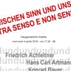 """Forum Austriaco di Cultura, """"Tra senso e non senso"""" (parola, suono, immagine)"""