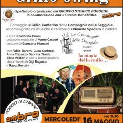 La Compagnia delle Seggiole presenta 'Grillo Swing' a Poggio a Caiano (PO) 16 maggio ore 21.30