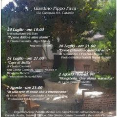 """Rassegna """"Sere d'Estate in Giardino"""" allo Spazio Fava di Catania 20 Luglio-7 Agosto 2018"""