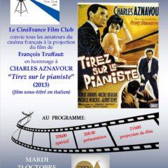 CinéFrance Film Club | 'Tirez sur le pianiste', con Charles Aznavour, presso l'Open Akademia di Cosenza 23 ottobre ore 20
