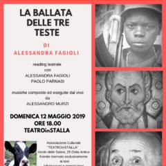 TeatroinStalla Ostia Antica | 'La ballata delle tre teste' di Alessandra Fagioli, 12 maggio ore 18