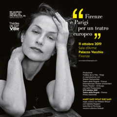 Isabelle Huppert alla Pergola di Firenze in 'Mary said what she said', regia di Robert Wilson, 11-13 ottobre