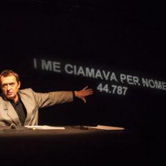 Milano Piccolo Teatro Grassi 27 gennaio Giorno della Memoria | I me ciamava per nome: 44.787. Risiera di San Sabba