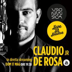 """Prossimo appuntamento di Visioninmusica """"Live at Home"""": in diretta streaming su YouTube il sassofonista Claudio Jr De Rosa"""
