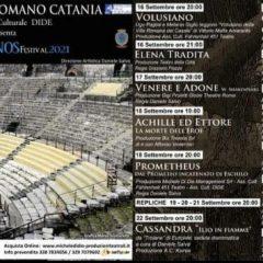 Amenanos Festival, dal 16 al 26 settembre la seconda edizione al Teatro Greco Romano di Catania